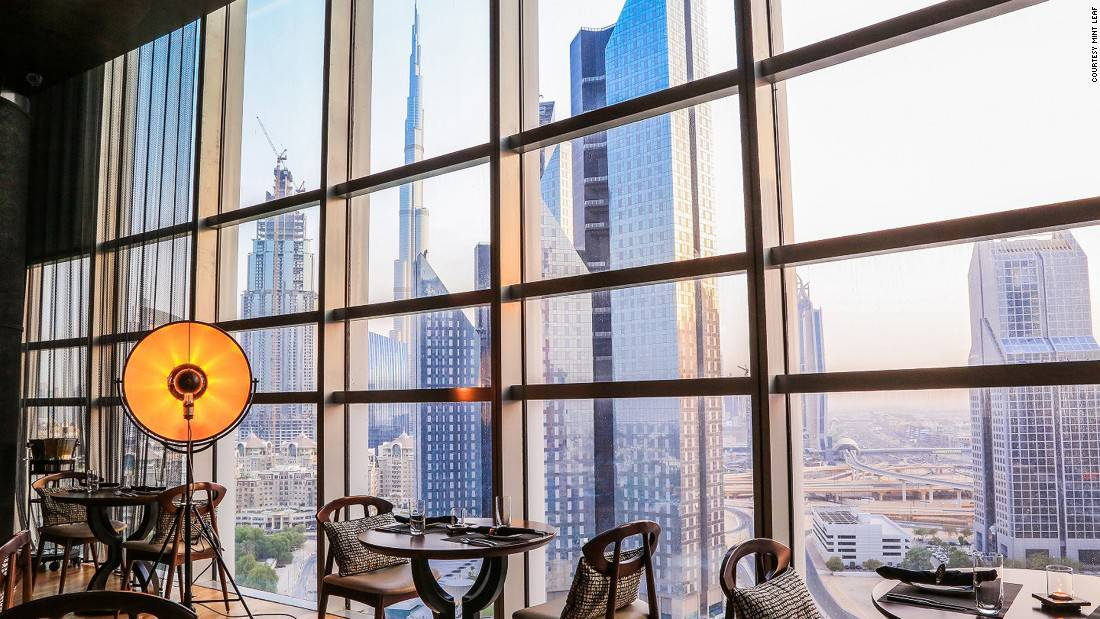 Mint Leaf: Located on the 15th floor, this London export has floor-to-ceiling windows facing the Burj Khalifa.